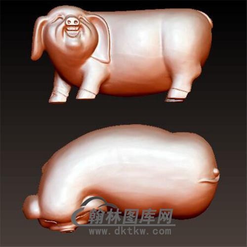 猪立体圆雕图(YZ-039)