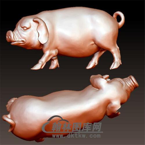 猪立体圆雕图(YZ-040)