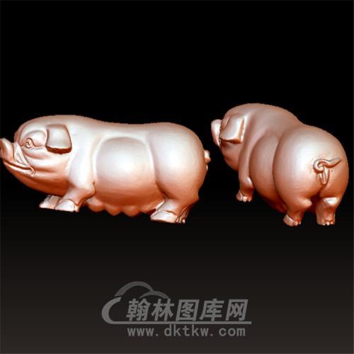 猪立体圆雕图(YZ-041)
