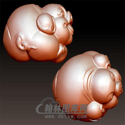 小猪立体圆雕图(YZ-045)