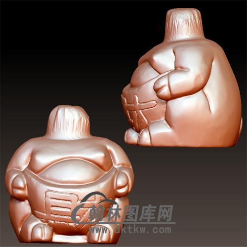 财猪三通分体猪身体立体圆雕图(YZ-047)