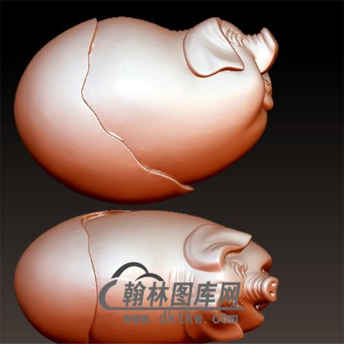 蛋猪手摆件立体圆雕图(YZ-049)
