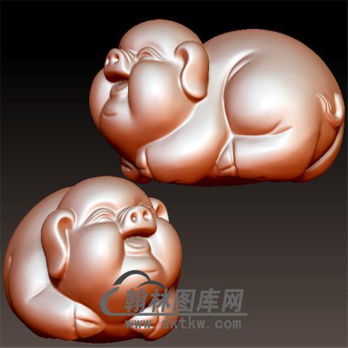 福猪立体圆雕图(YZ-052)
