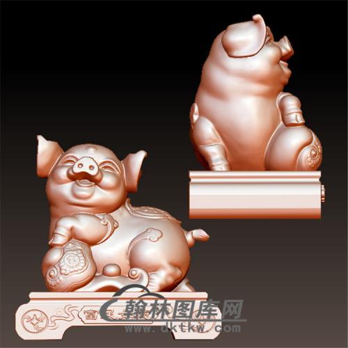 如意猪立体圆雕图(YZ-054)