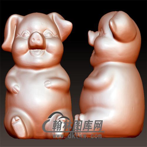 小猪立体圆雕图(YZ-056)