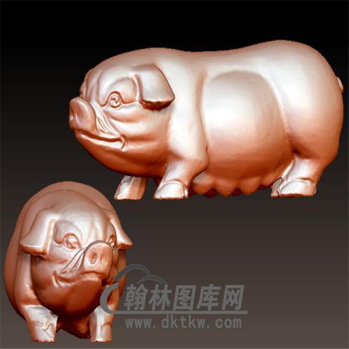 猪雌立体圆雕图(YZ-062)