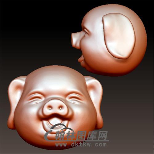 猪头珠子立体圆雕图(YZ-064)