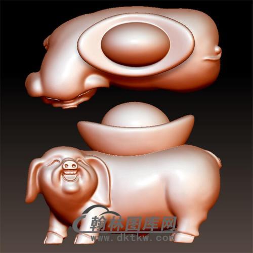 猪立体圆雕图(YG-004)