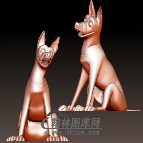 狗立体圆雕图(YG-035)