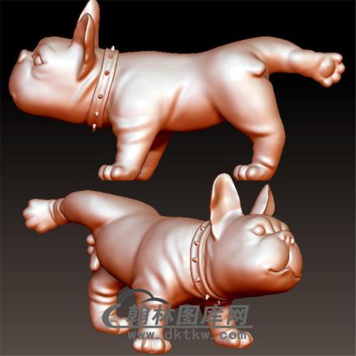 狗立体圆雕图(YG-036)