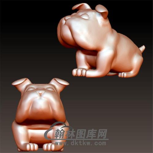 狗立体圆雕图(YG-037)