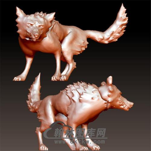 狗立体圆雕图(YG-038)