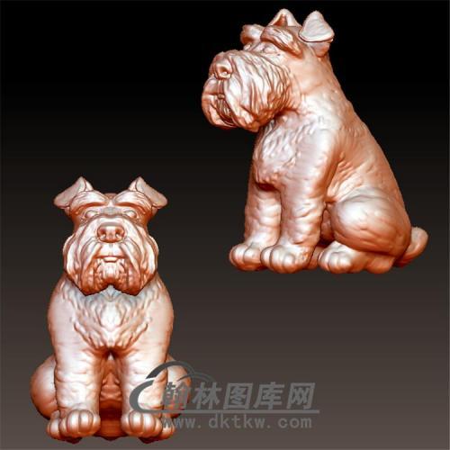 狗立体圆雕图(YG-041)