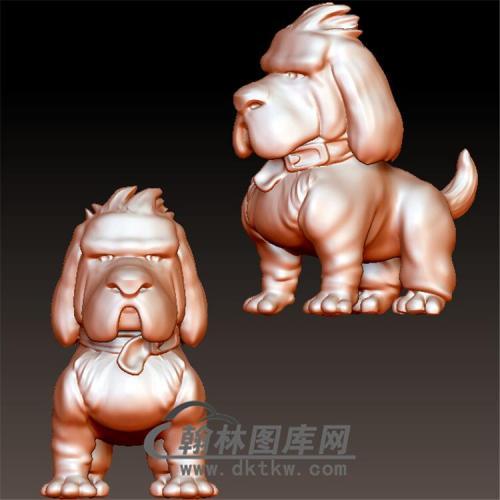 狗立体圆雕图(YG-042)