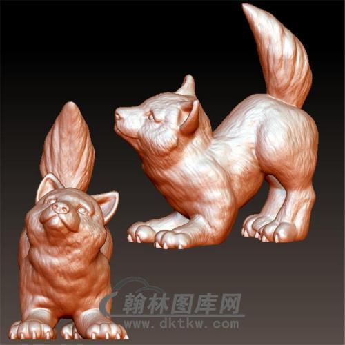 狗立体圆雕图(YG-045)
