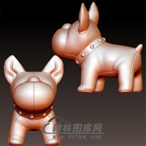 狗立体圆雕图(YG-046)