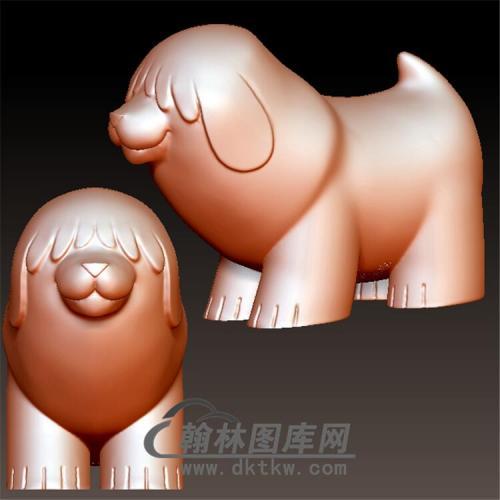 狗立体圆雕图(YG-047)