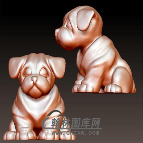 狗立体圆雕图(YG-048)