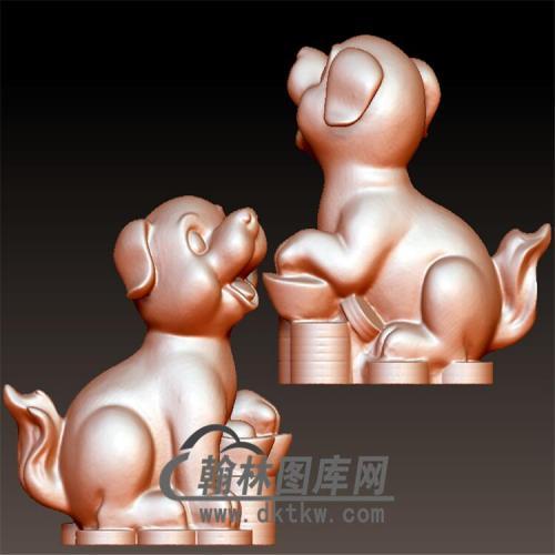 狗立体圆雕图(YG-049)