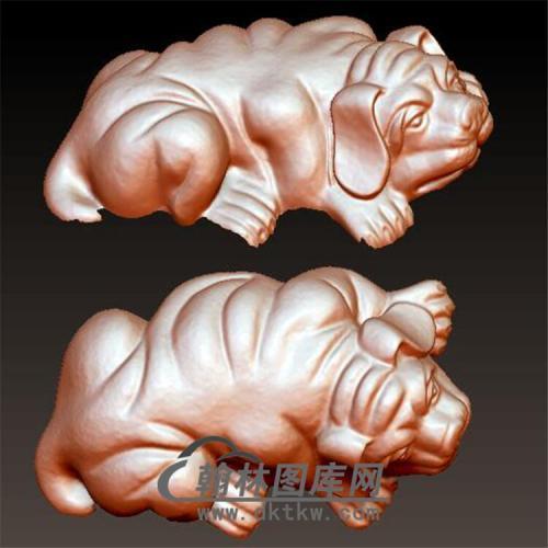 狗立体圆雕图(YG-051)
