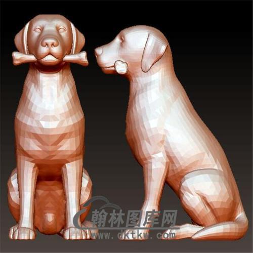 狗立体圆雕图(YG-053)
