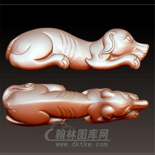 狗立体圆雕图(YG-056)