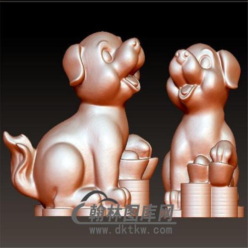 狗立体圆雕图(YG-057)