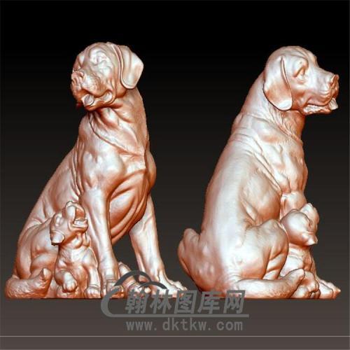 狗立体圆雕图(YG-059)