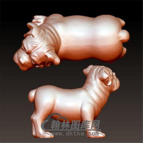 狗立体圆雕图(YG-060)