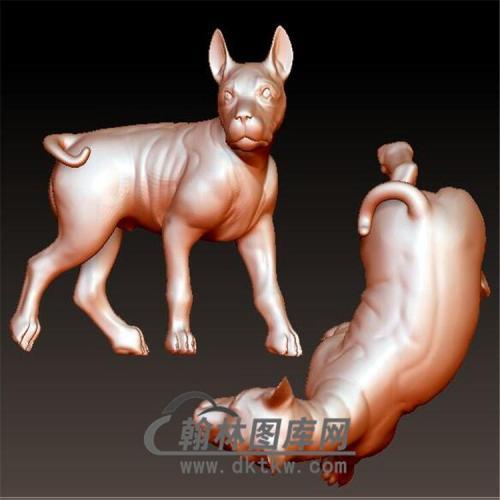 狗立体圆雕图(YG-061)