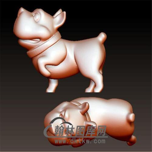 狗立体圆雕图(YG-062)