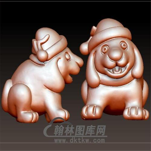 狗立体圆雕图(YG-063)