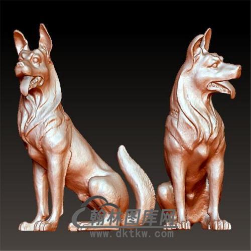 狗立体圆雕图(YG-065)