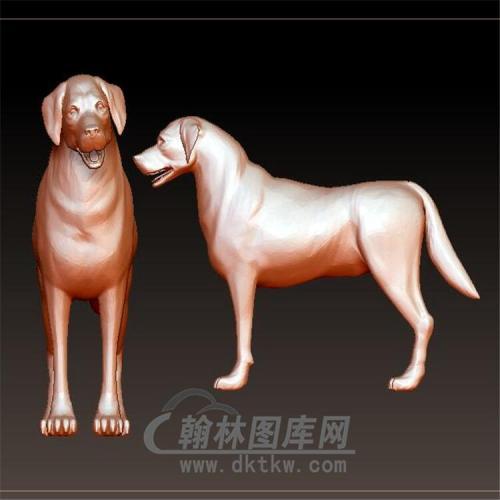 狗立体圆雕图(YG-066)