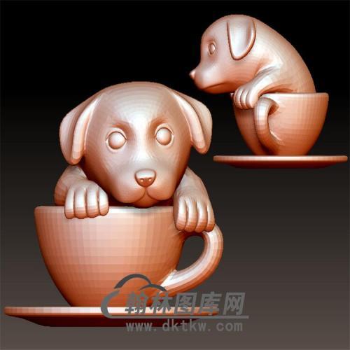 狗立体圆雕图(YG-069)