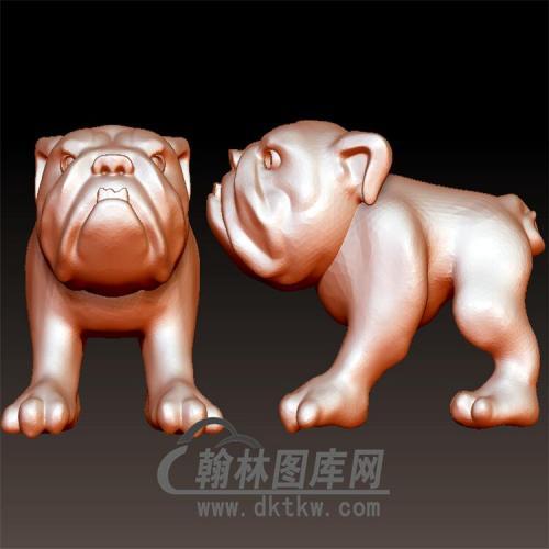 狗立体圆雕图(YG-070)
