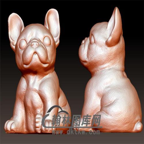 狗立体圆雕图(YG-071)