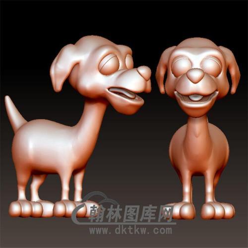 狗立体圆雕图(YG-075)