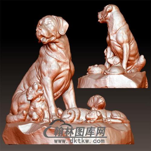 狗立体圆雕图(YG-077)