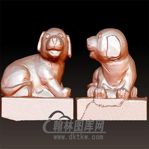 狗立体圆雕图(YG-078)