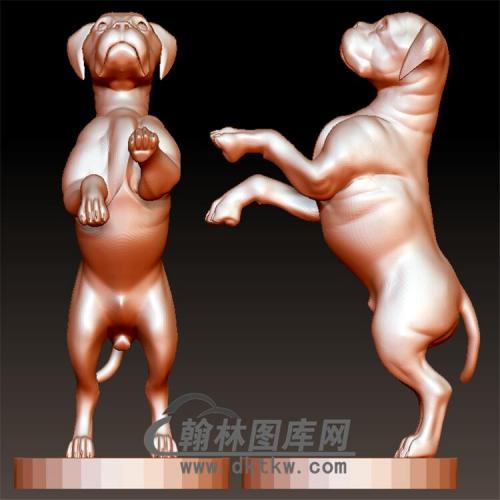 狗立体圆雕图(YG-079)