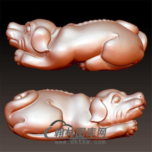 狗立体圆雕图(YG-081)