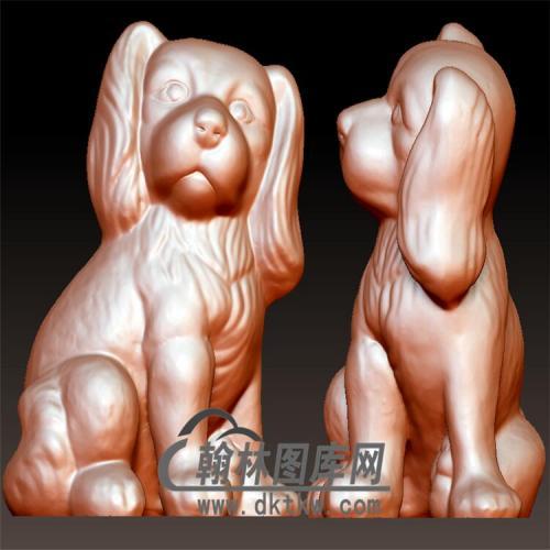 狗立体圆雕图(YG-082)