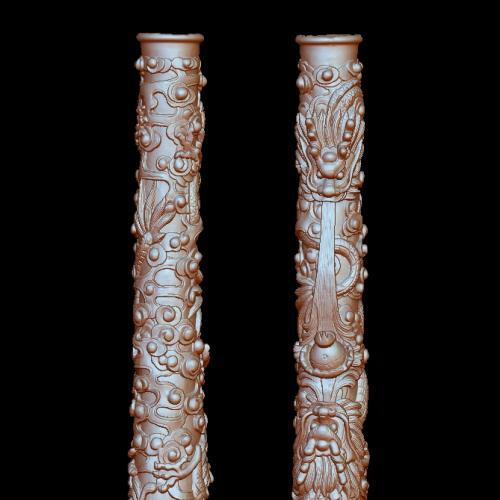 盘龙柱立体圆雕图(YLF-003)