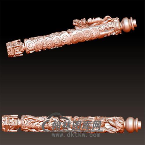 盘龙柱立体圆雕图(YLF-010)