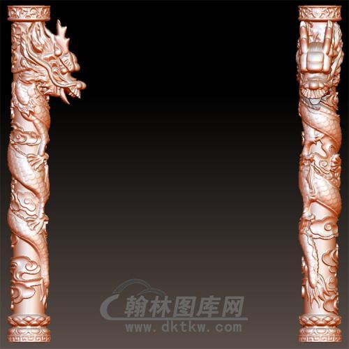 盘龙柱-左立体圆雕图(YLF-025)