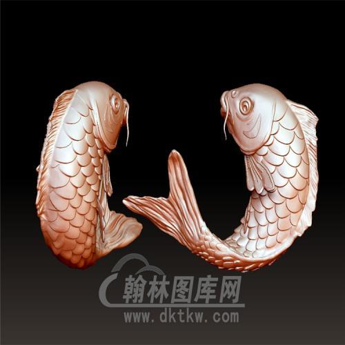 鲤鱼立体圆雕图(YDW-042)