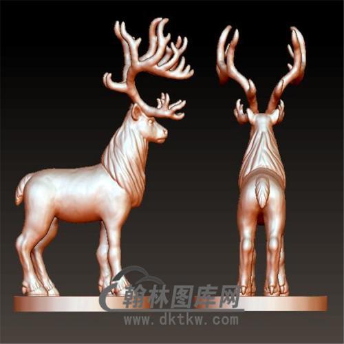 驯鹿立体圆雕图(YDW-062)