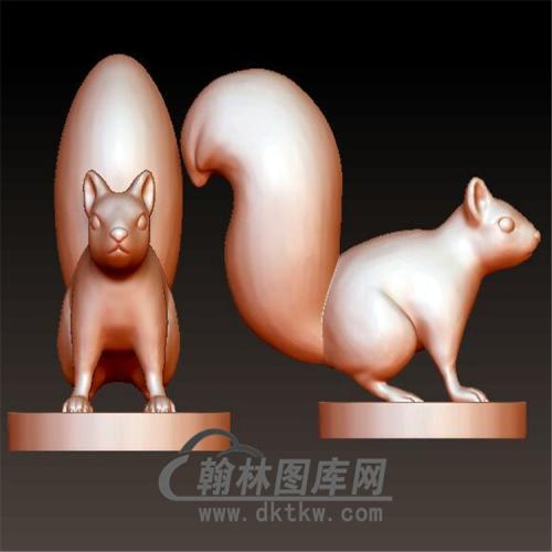 松鼠立体圆雕图(YDW-063)