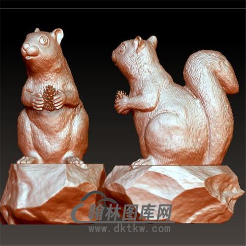 松鼠立体圆雕图(YDW-064)